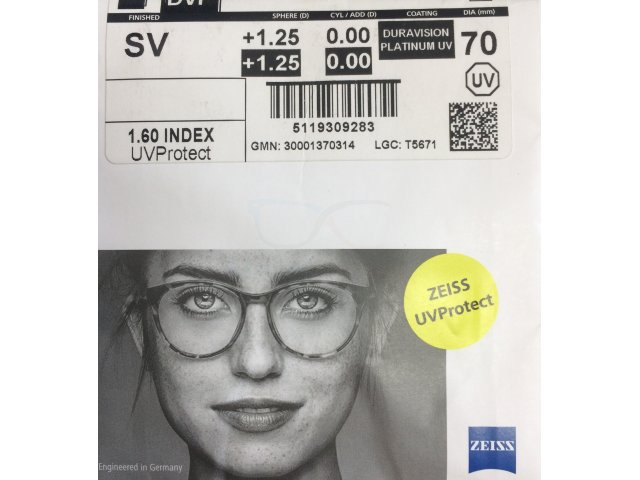Zeiss Single Vision 1.6 DVP