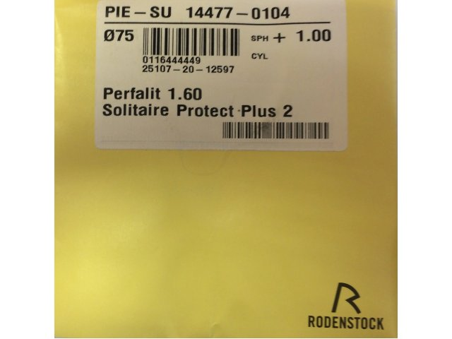 Rodenstock Perfalit 1.6 Solitaire Protect Plus 2 (SPP2)