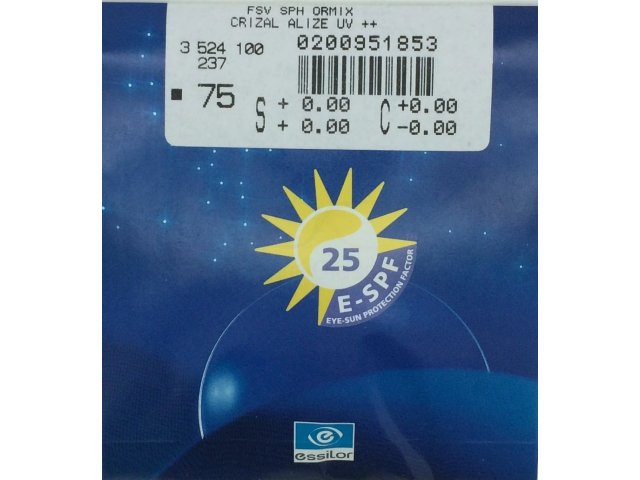 Essilor 1.61 AS Ormix Crizal Alize+ UV