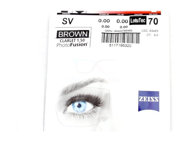 Zeiss Single Vision 1.5 PhotoFusion DVP Brown/Grey