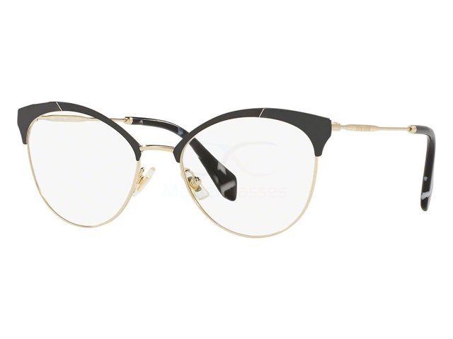 Оправа Miu miu Core Collection MU 50PV 1AB1O1 Pale Gold/mt Black/black