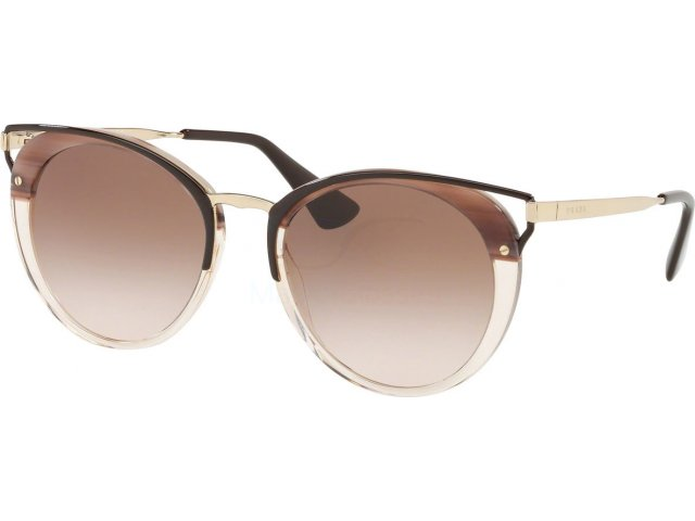 Prada Catwalk PR 66TS LMN0A6 Striped Brown
