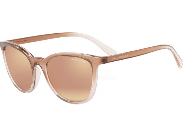 Armani exchange AX4077S 82574Z Transp Tundra/transp Rose